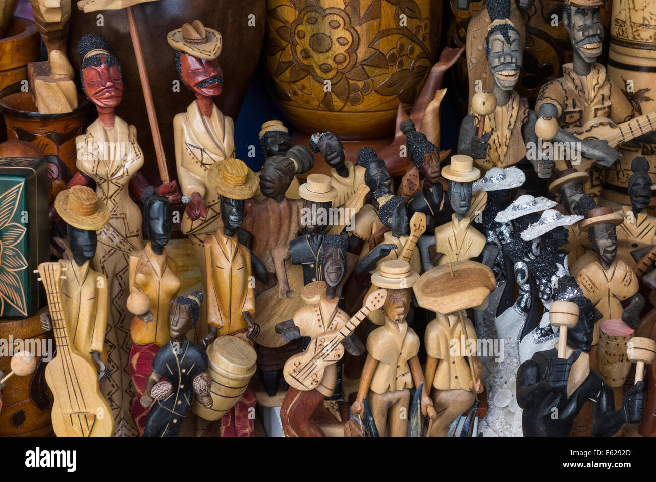 Carved wooden objects for sale souvenir shop the nassau