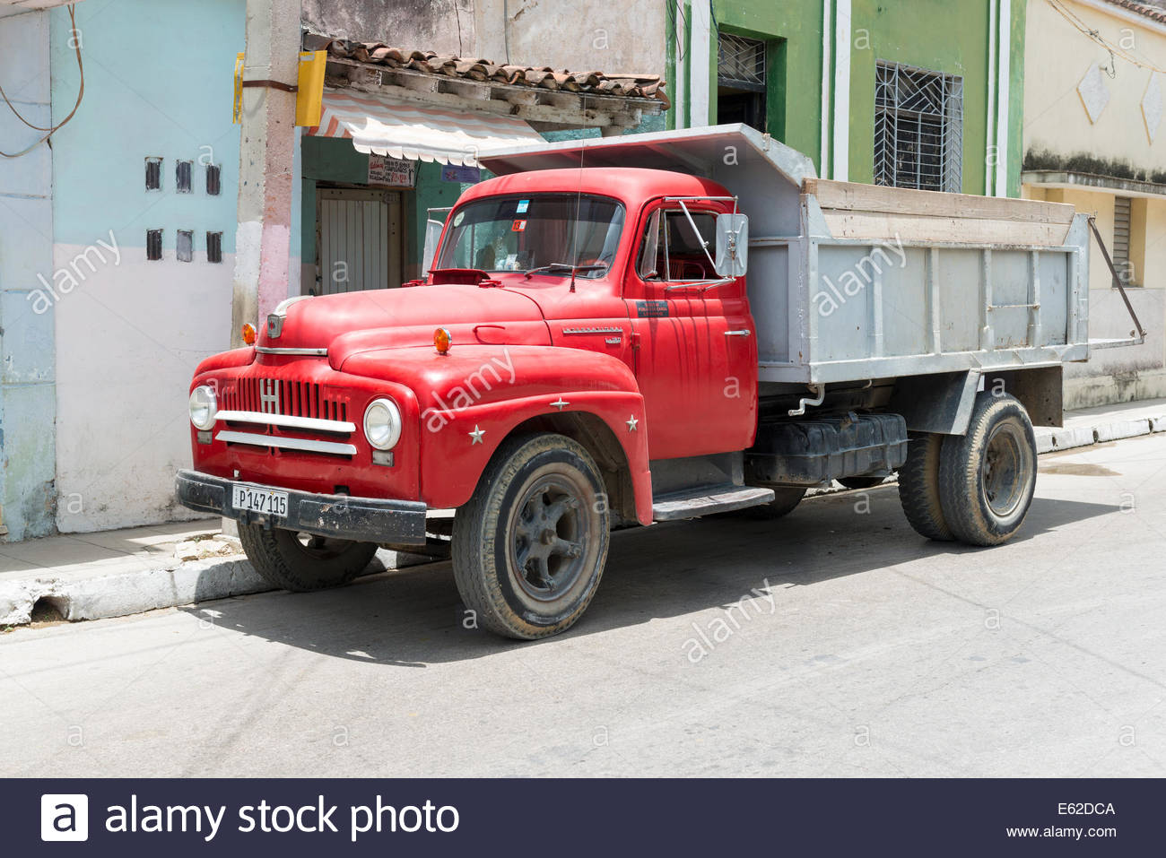 Old truck used for construction work. After the government ...