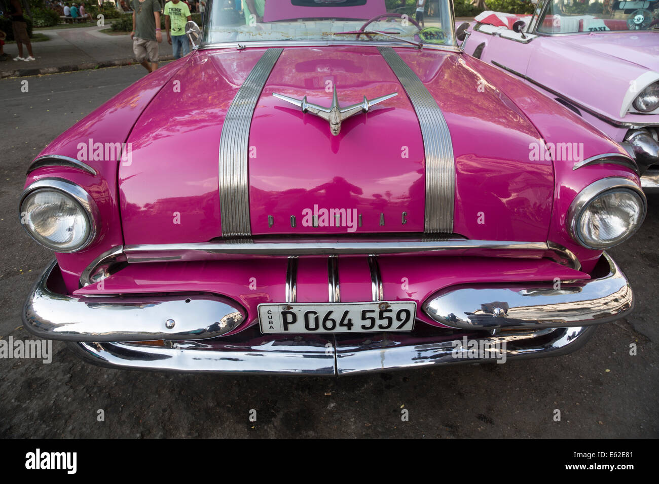 old 1950s Pontiac Star Chief convertible car, Havana, Cuba Stock ...