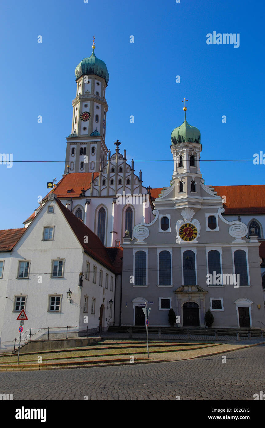 augsburg st ulrich church romantische strasse romantic. Black Bedroom Furniture Sets. Home Design Ideas
