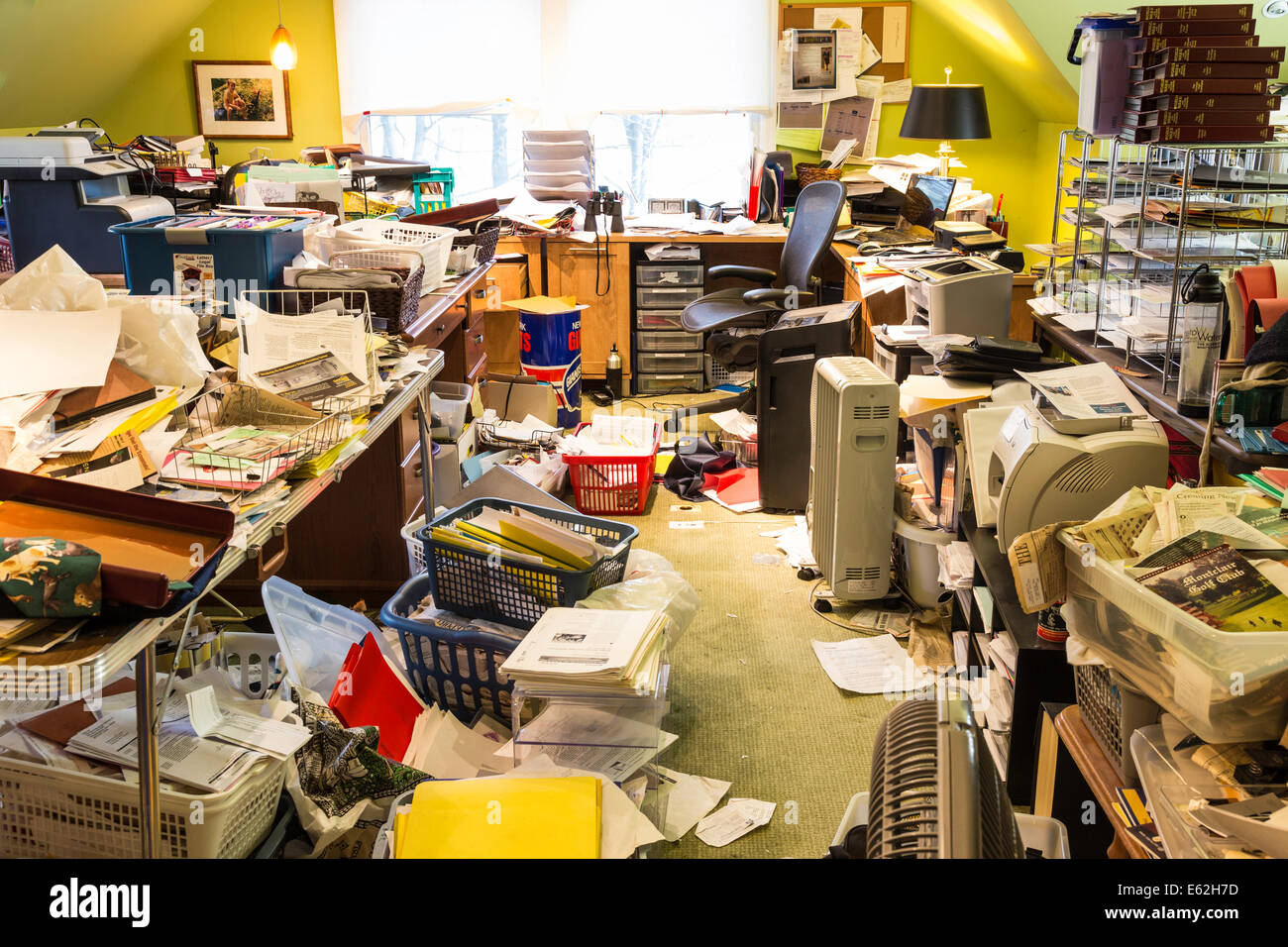 Messy Home Office, USA Stock Photo, Royalty Free Image: 72586849