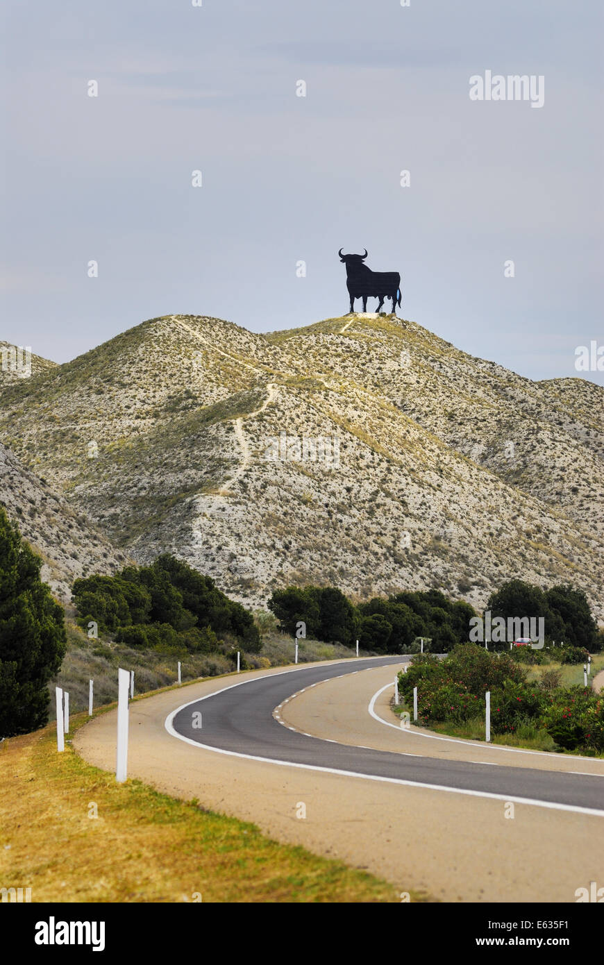 Osborne Bull road sign dominating the spanish roads as an ...