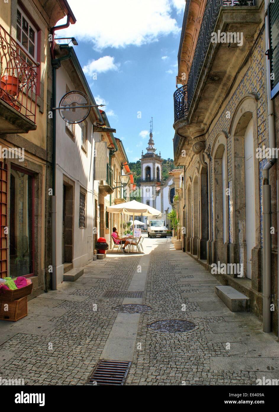 Old street in vila nova de cerveira portugal stock photo - Vilanova de cerveira ...