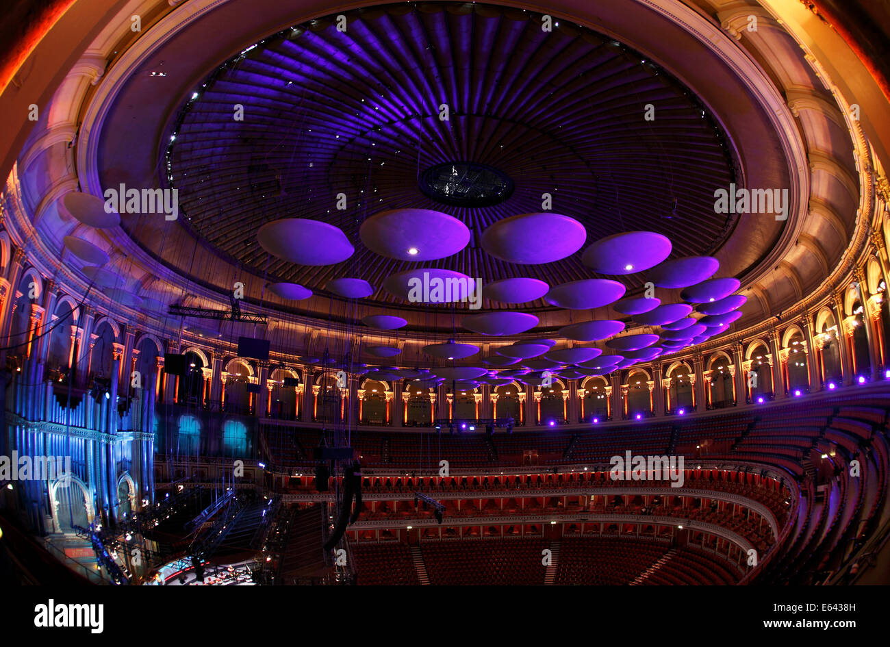 Acoustic sound panels in the roof of the royal albert hall for Door 8 royal albert hall