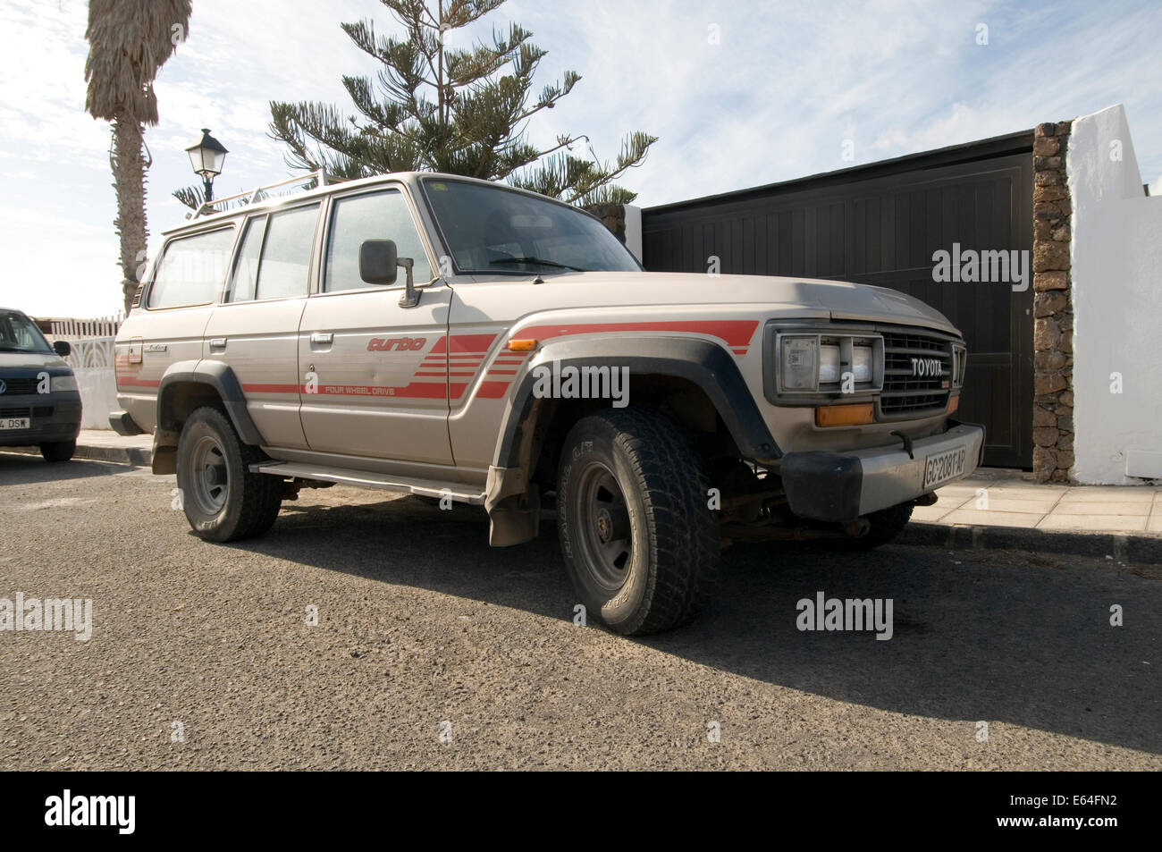 toyota land cruiser 4 by four 4x4 japanese off road car suv suvs stock photo royalty free image. Black Bedroom Furniture Sets. Home Design Ideas