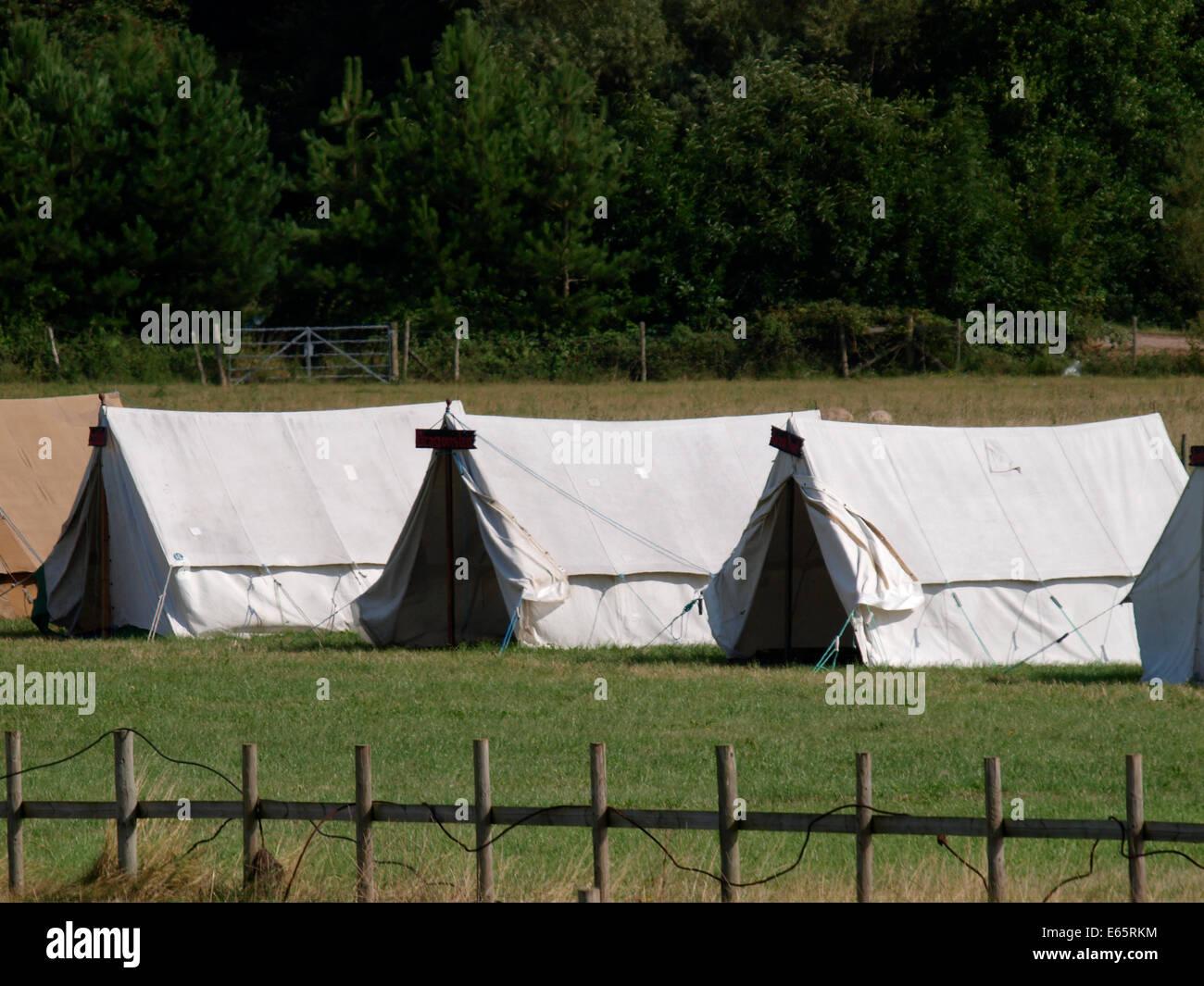 Row of canvas tents UK & Row of canvas tents UK Stock Photo Royalty Free Image: 72657752 ...