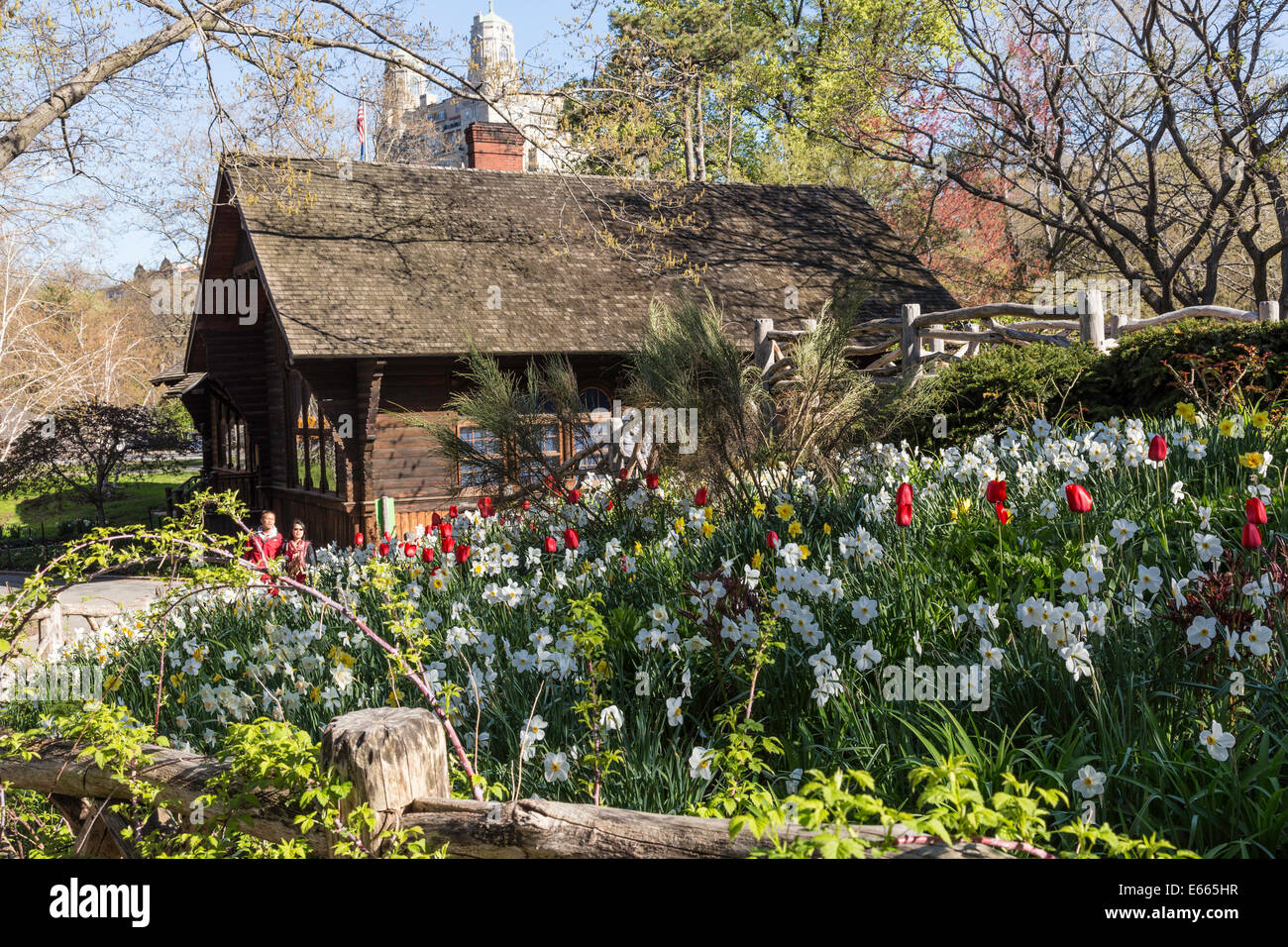 Shakespeare Garden And Swedish Cottage Marionette Theatre In Central Stock Photo Royalty Free