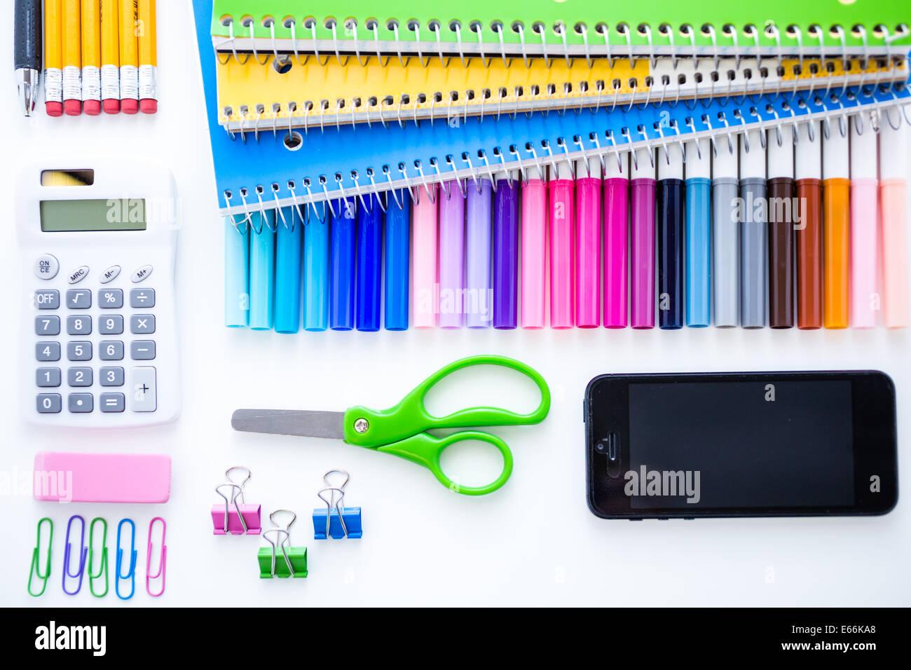 Modern Classroom Supplies ~ New school supplies prepared for year stock