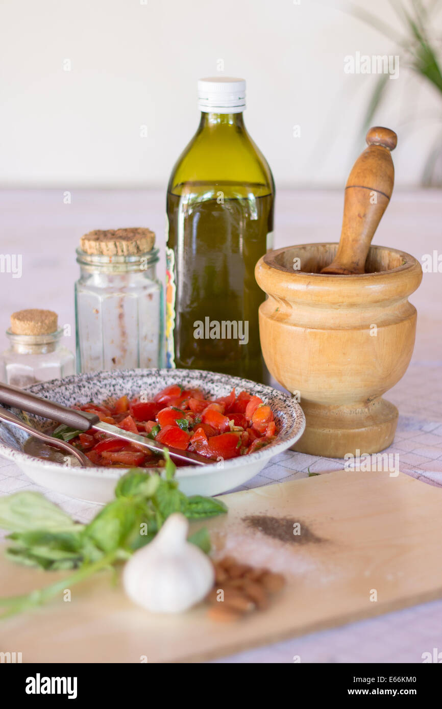 Kitchen Counter With Food Kitchen Counter Cooking Ingredients Stock Photos & Kitchen Counter