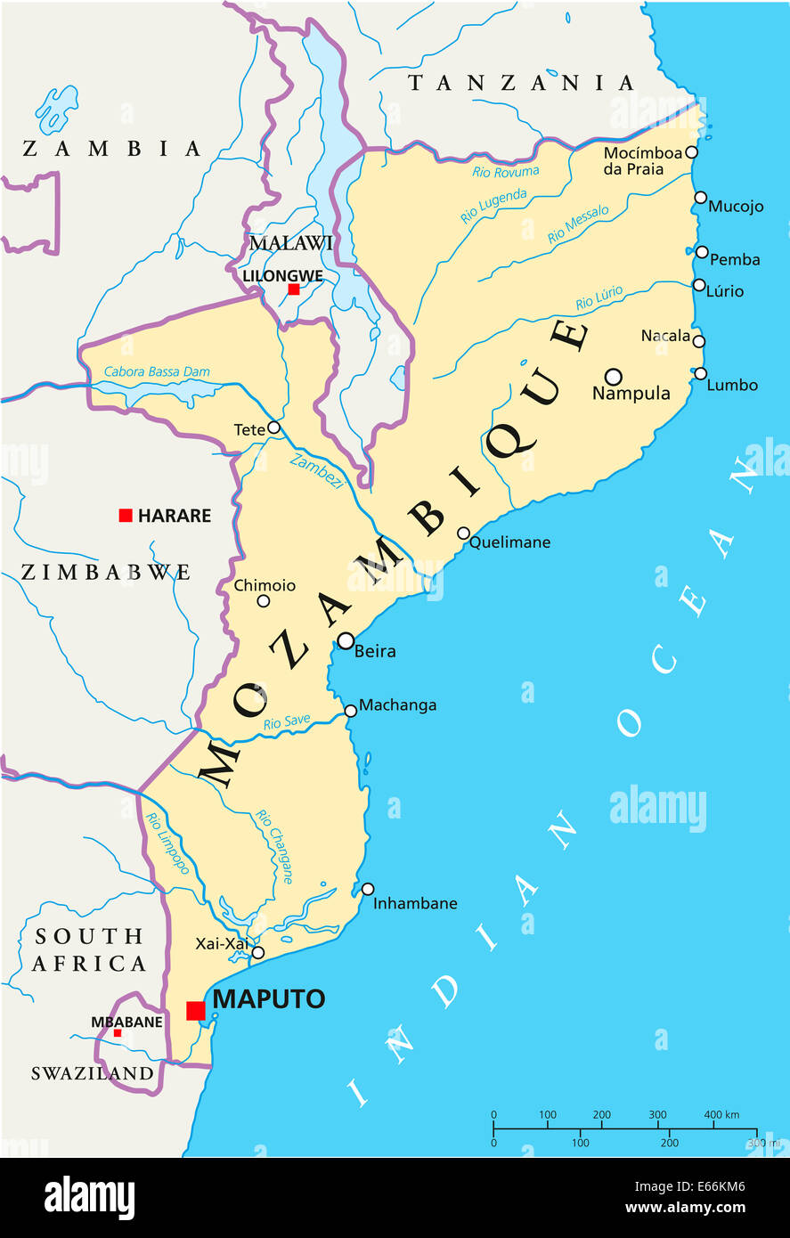 maputo mozambique africa map