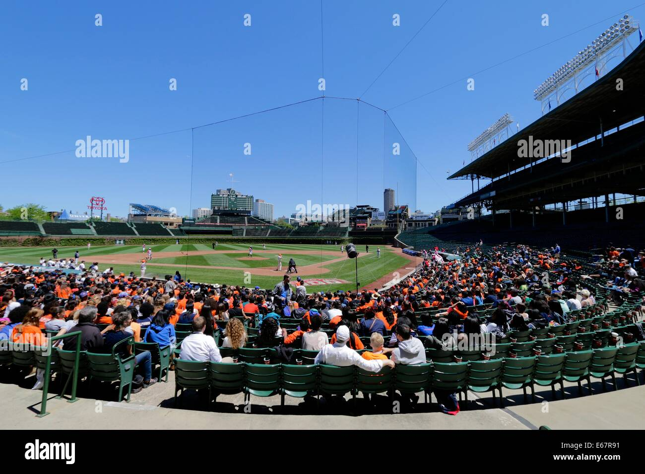 Wrigley field stock photos wrigley field stock images alamy high school baseball playoff game in wrigley field chicago illinois whitney young high amipublicfo Gallery