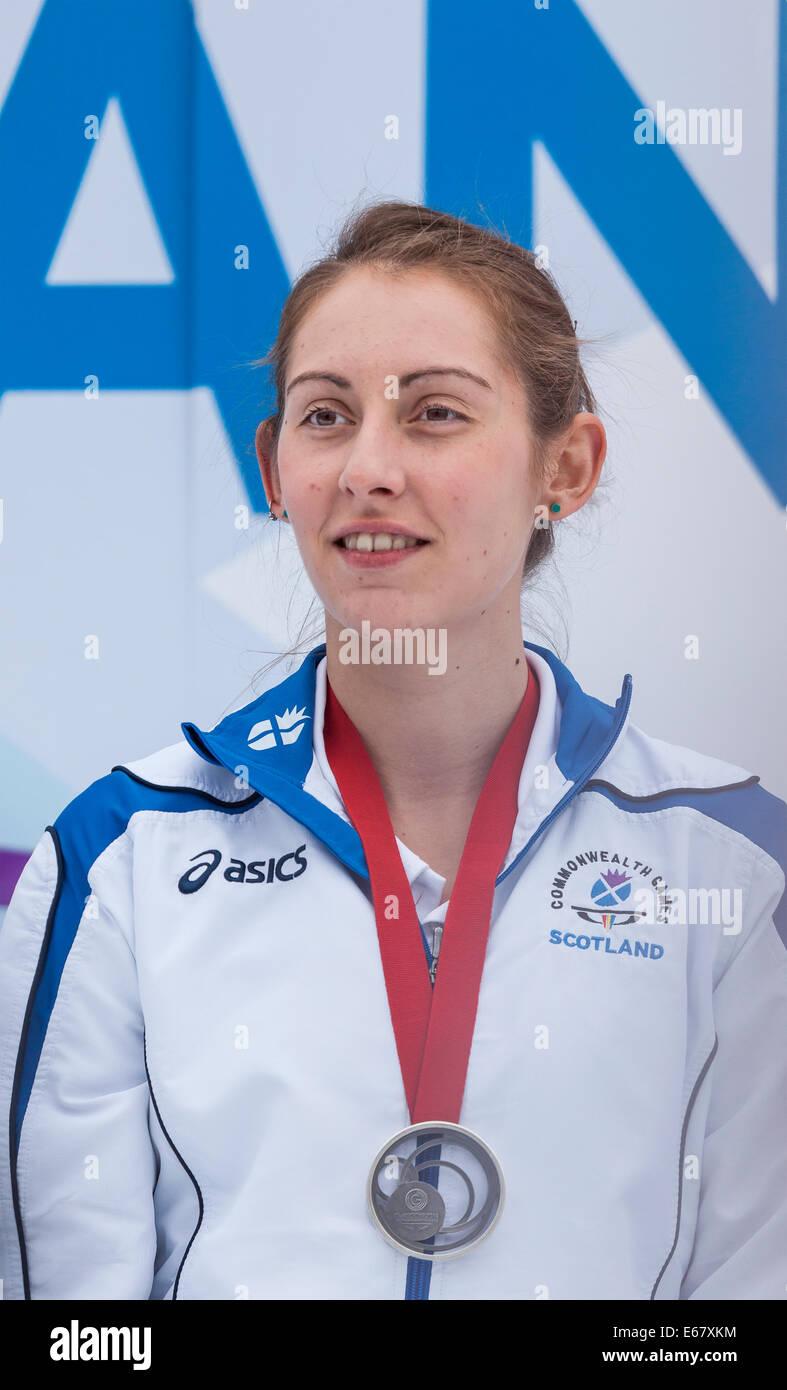 Kirsty Gilmour badminton singles silver medallist in George