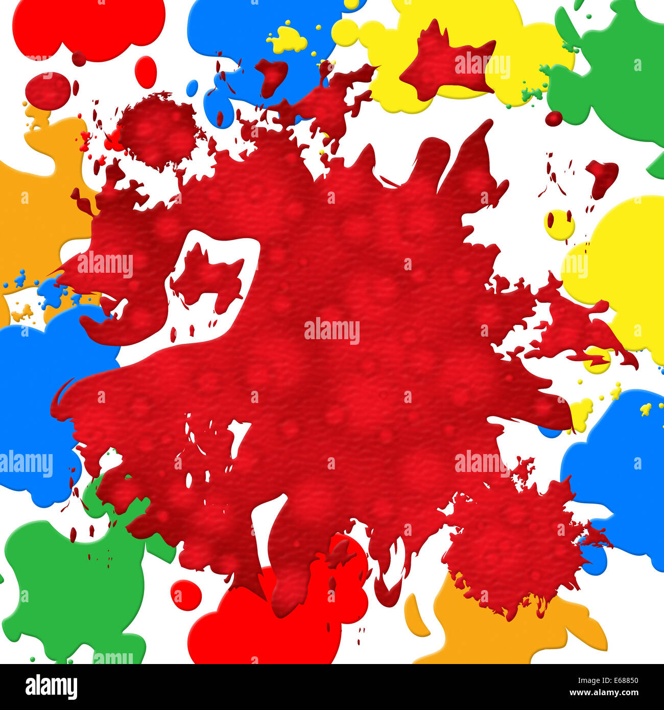 Paint Color Meanings splash color meaning paint colors and design stock photo, royalty