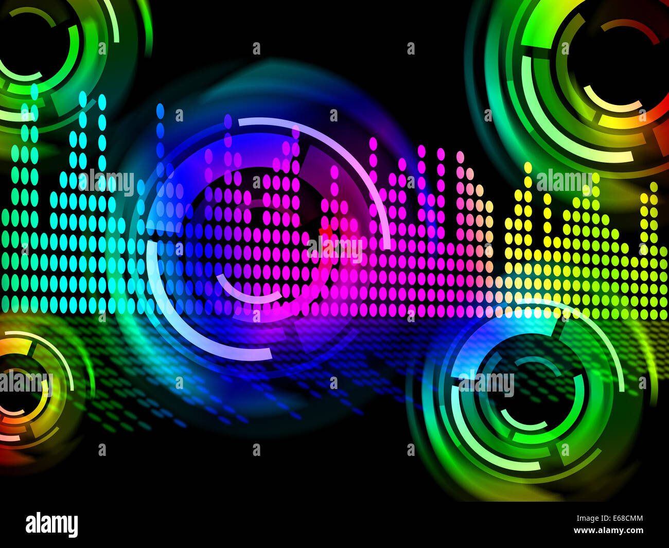 digital music beats background meaning electronic music or