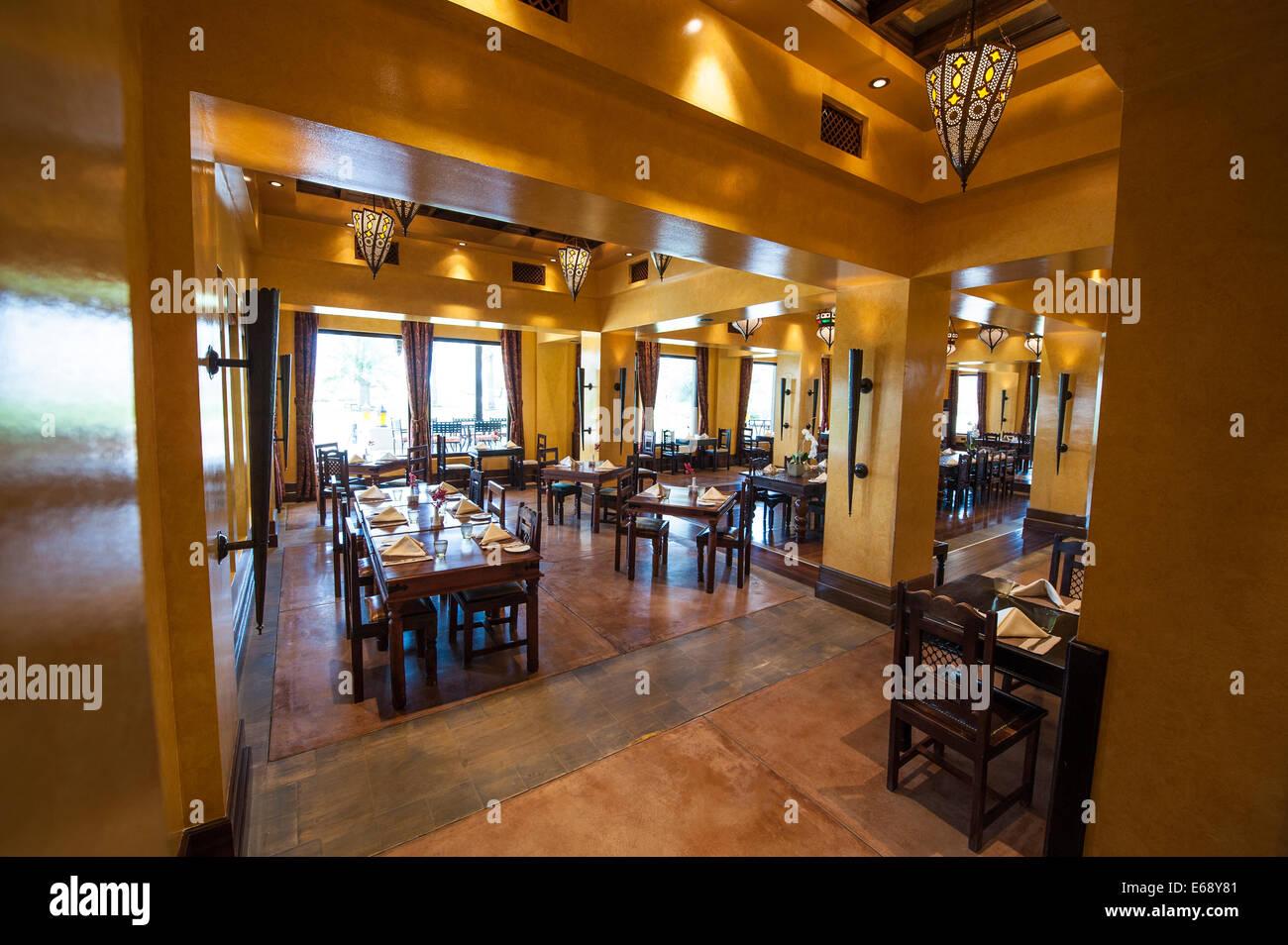 Dining Room Restaurant At The Bab Al Shams Desert Resort Spa Dubai United Arab Emirates UAE