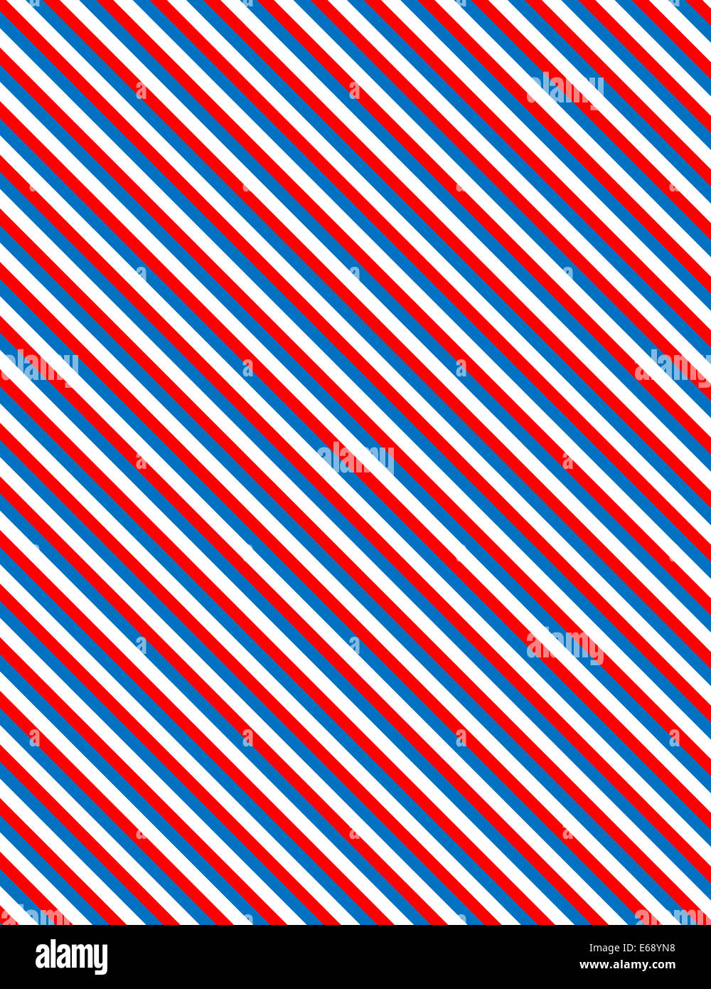 Red, White and blue patriotic diagonal striped background ...