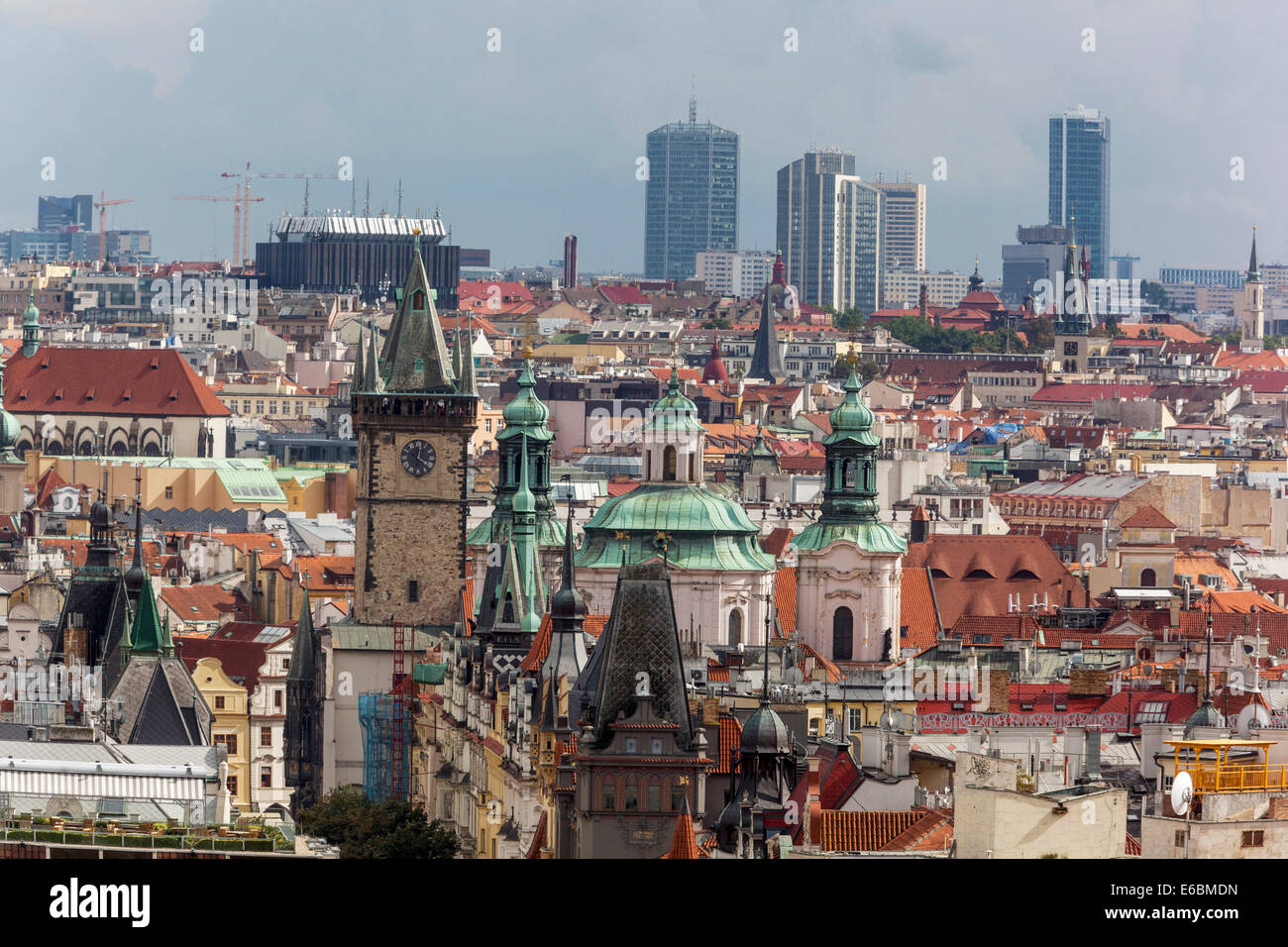 Background image mdn - Old Town And Skyscrapers In The Background On Pankrac Discrict Prague Czech Republic