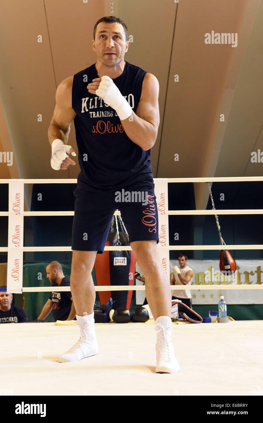 Bo boxer wladimir klitschko wikipedia the - Professional Boxer Wladimir Klitschko In Action During A Training Session For His Next Fight Against Kubrat Pulev In Going Austria 19 August 2014