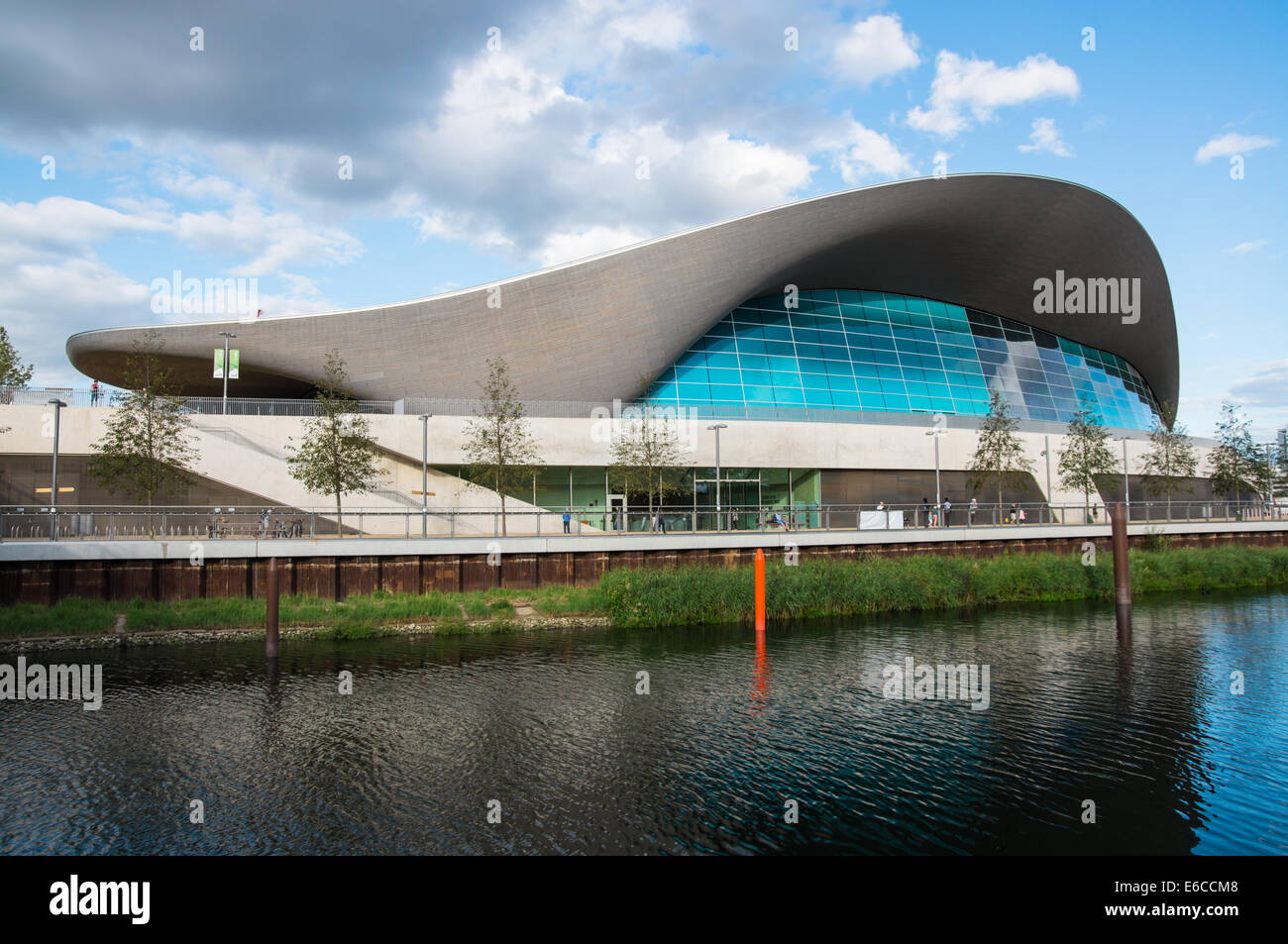 London Aquatics Centre At The Queen Elizabeth Olympic Park In London Stock Photo Royalty Free
