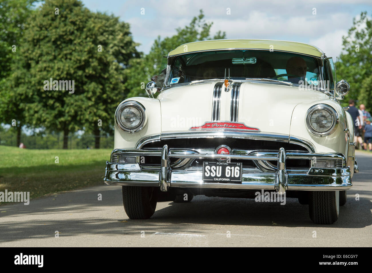1953 Pontiac Eight Chieftain at an american car show. UK. Classic ...