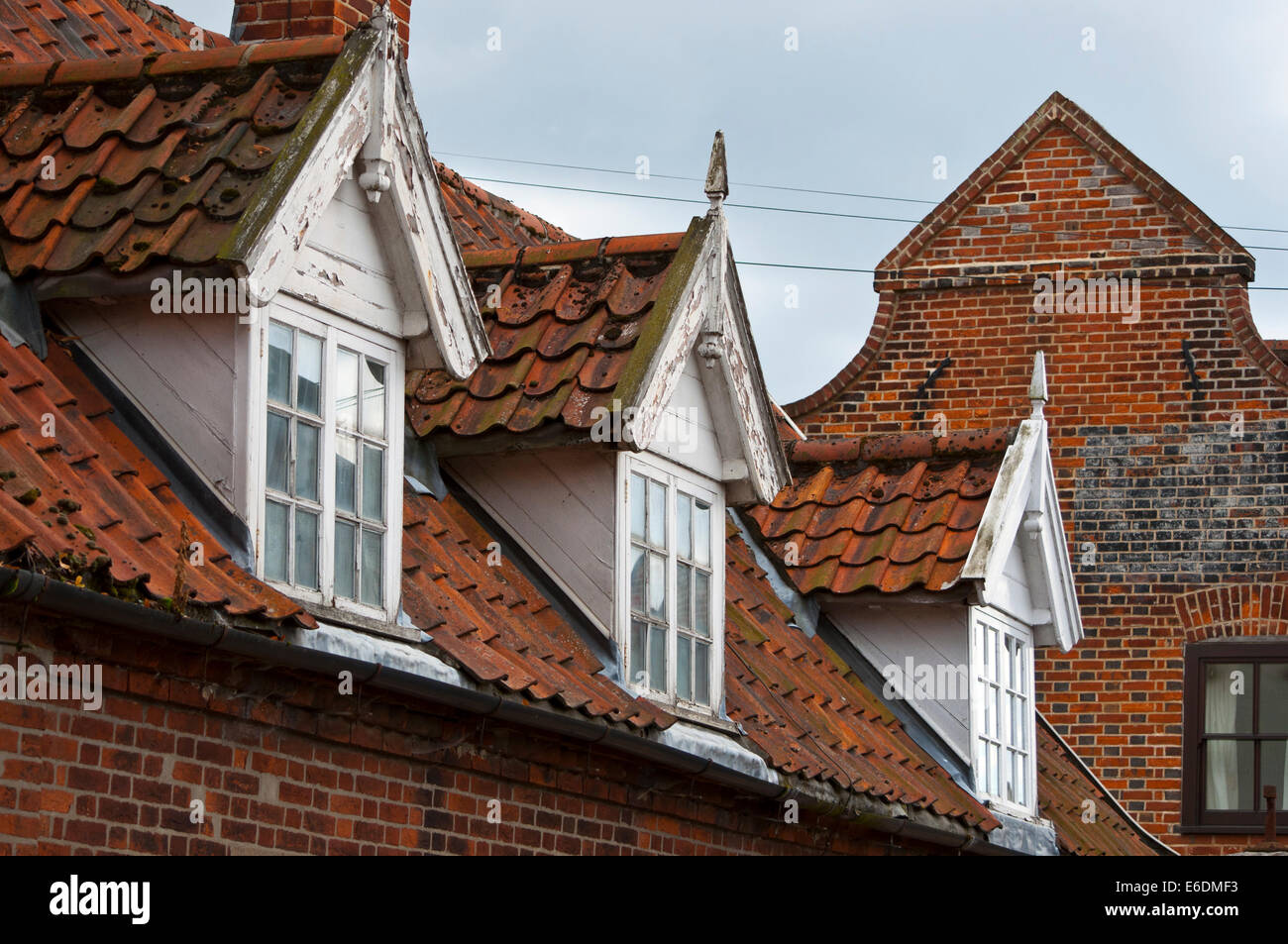 Old Cottage Dormer Windows Stock Photo Royalty Free Image