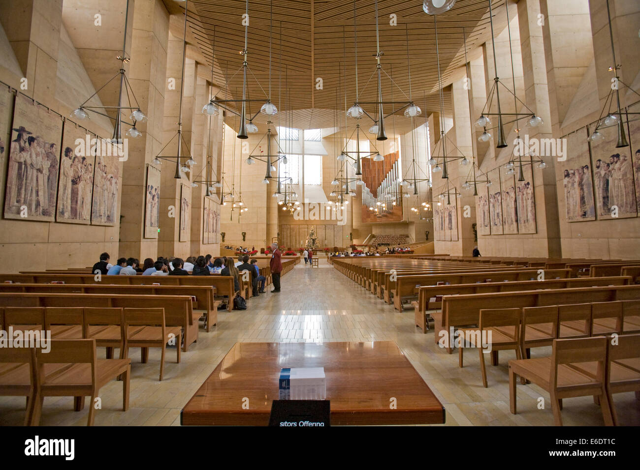 The Interior Of The Cathedral Of Our Lady Of The Angels By Architect Stock Photo Royalty Free