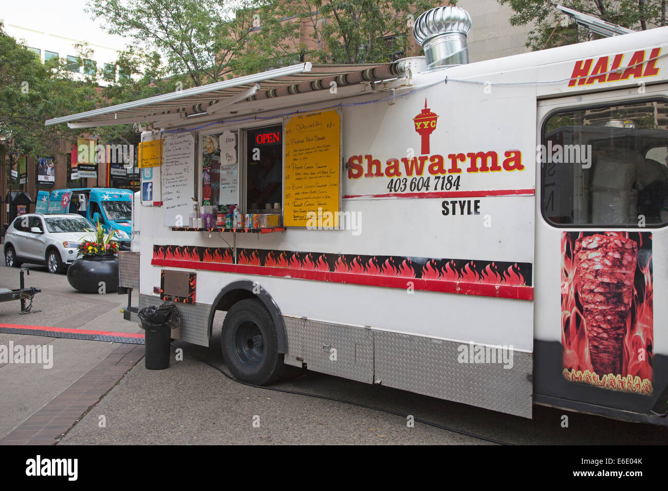 Shawarma Food Truck At Calgary Arab Festival In Olympic Plaza