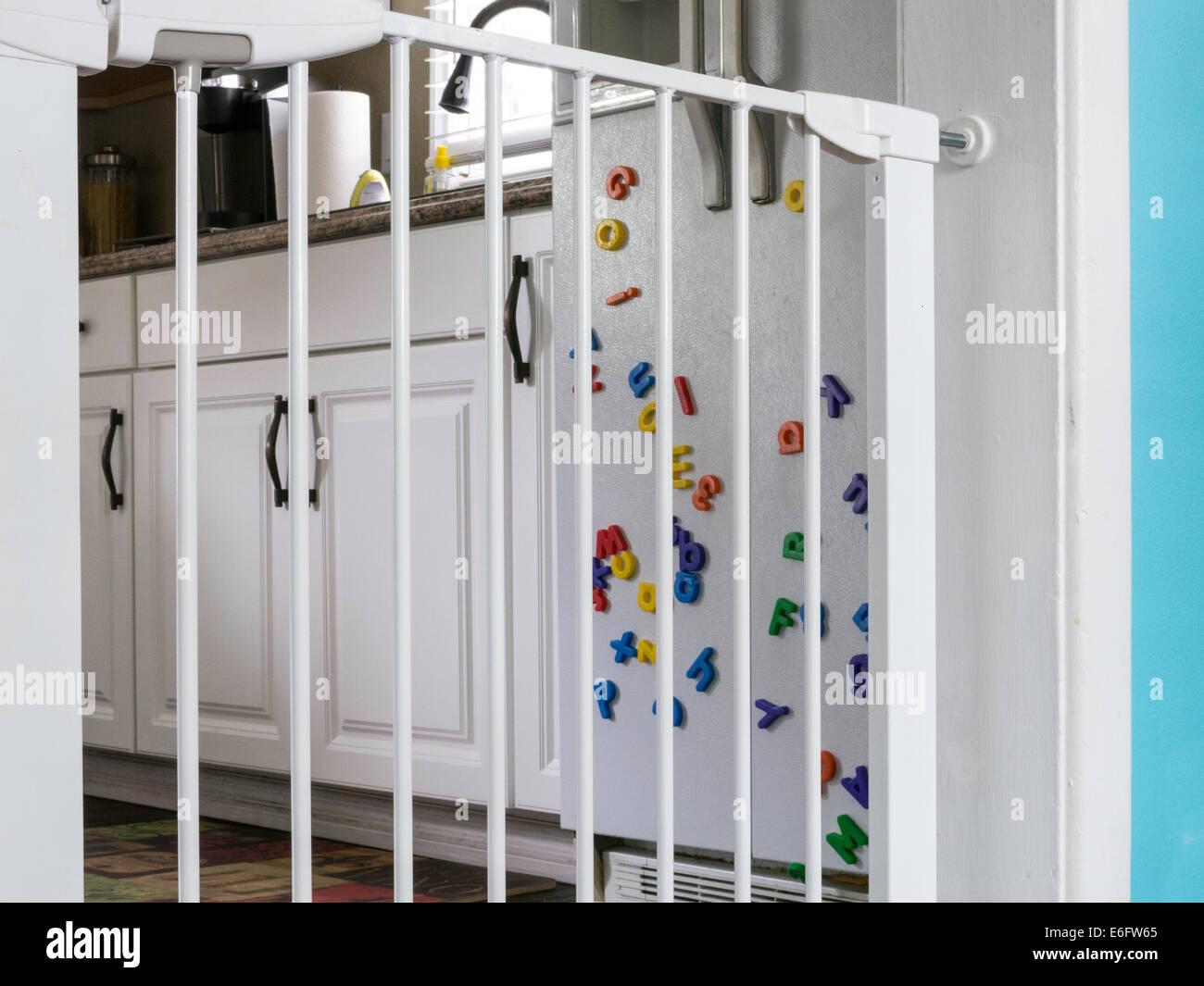Amazing Baby Gate At Kitchen Doorway, USA