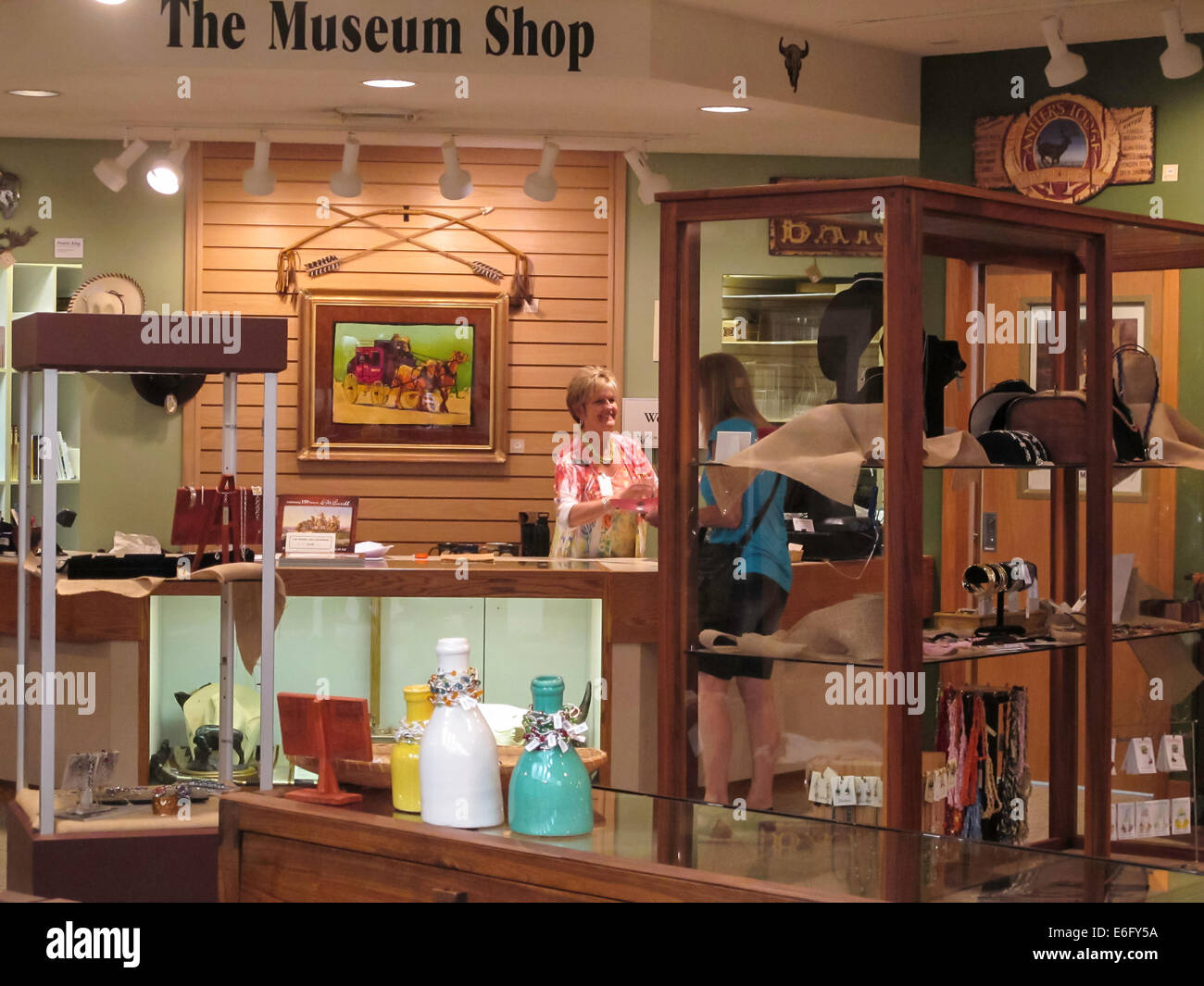 CM Russell Museum Gift Shop Great Falls MT Stock Photo - Great museums in us
