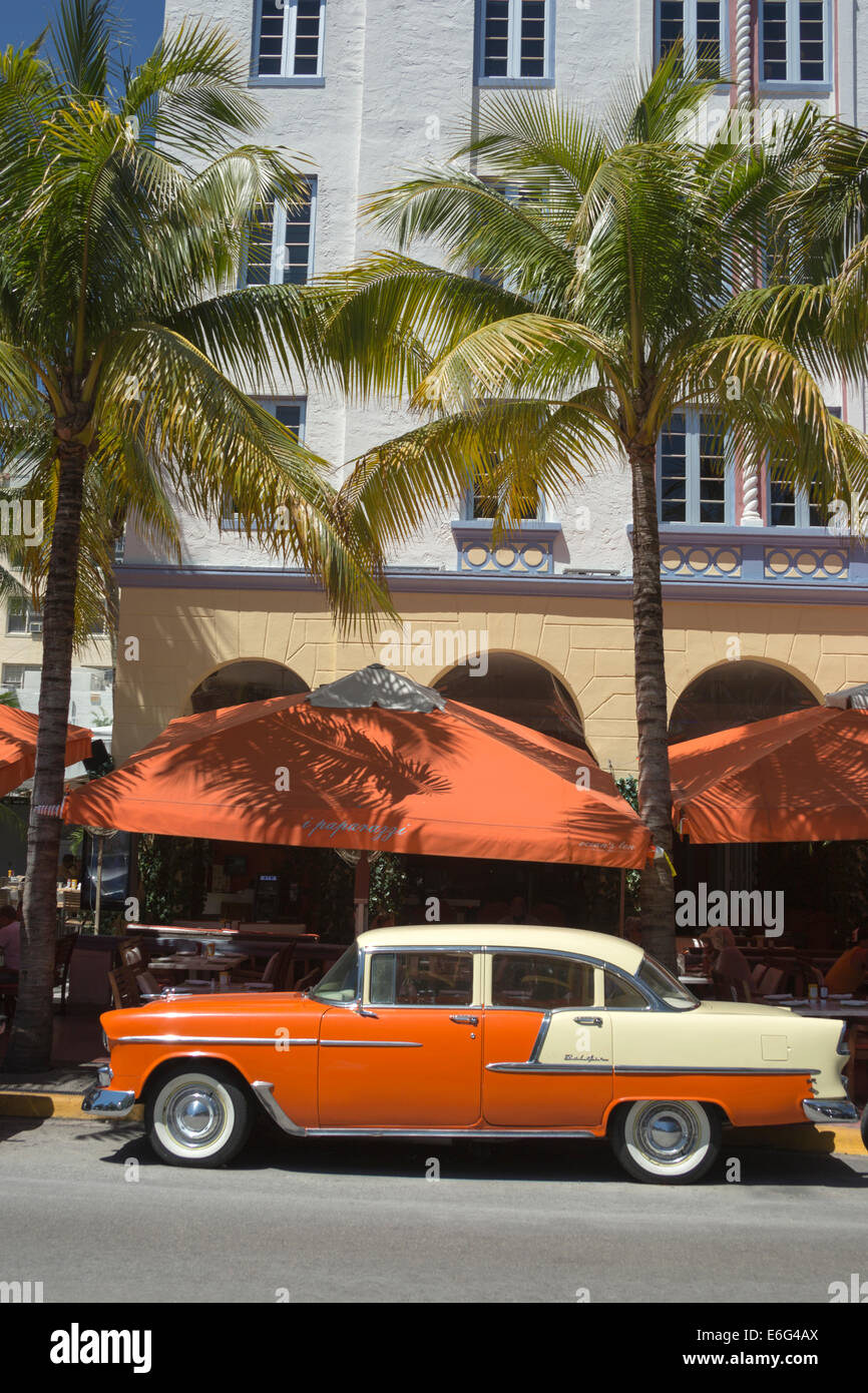 Nineteen fifties classic american automobile ocean drive south nineteen fifties classic american automobile ocean drive south beach miami beach florida usa voltagebd Image collections