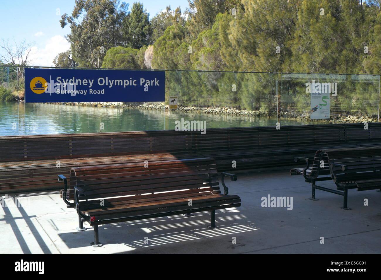 Sydney Olympic Park Ferry Wharf In Western Sydneynew South Walesaustralia