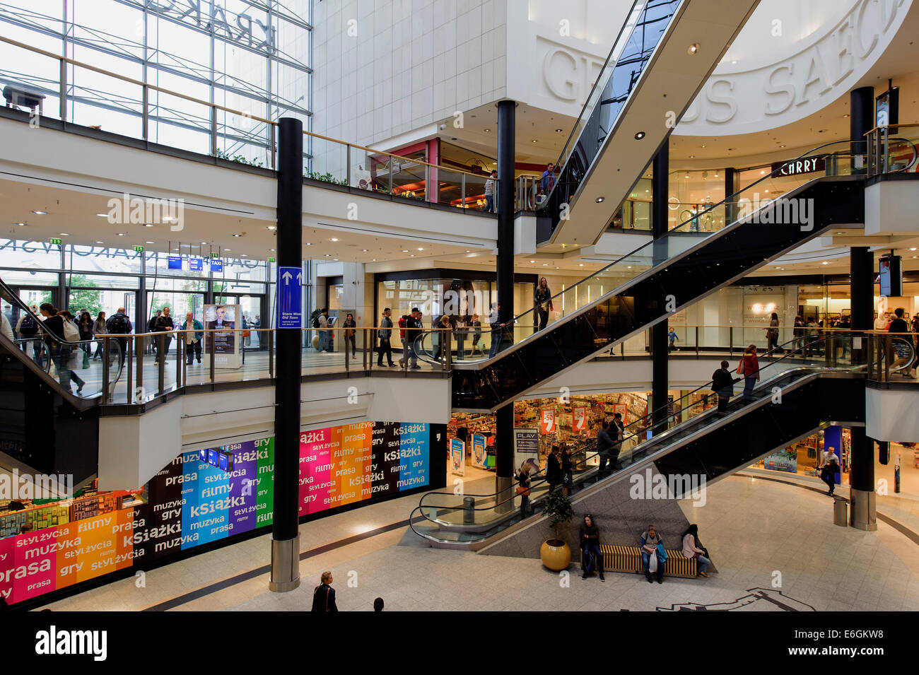 Shopping Center Galeria Krakowska In Krakow Poland Europe Stock Photo Royalty Free Image