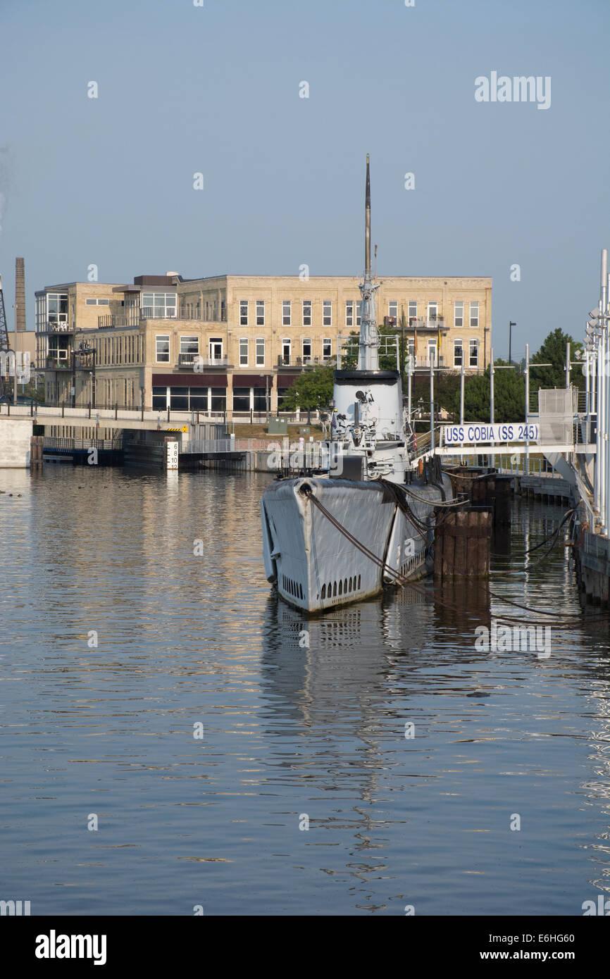 Wisconsin, Manitowoc. Manitowoc River. Wisconsin Maritime Museum ...