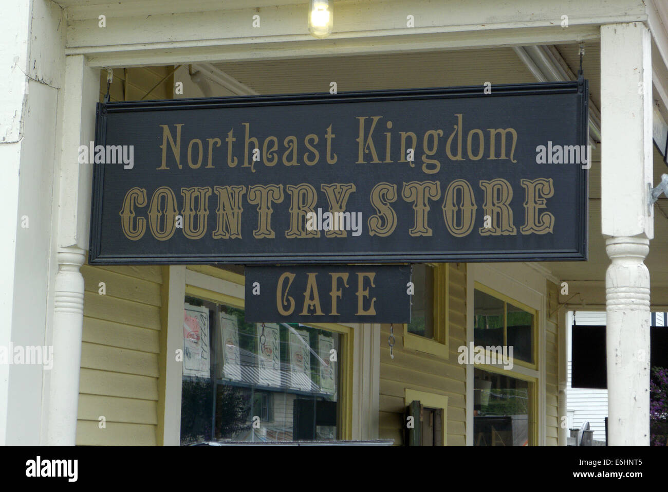 Northeast Kingdom Country Store In East Burke Vermont Usa Stock Photo Royalty Free Image