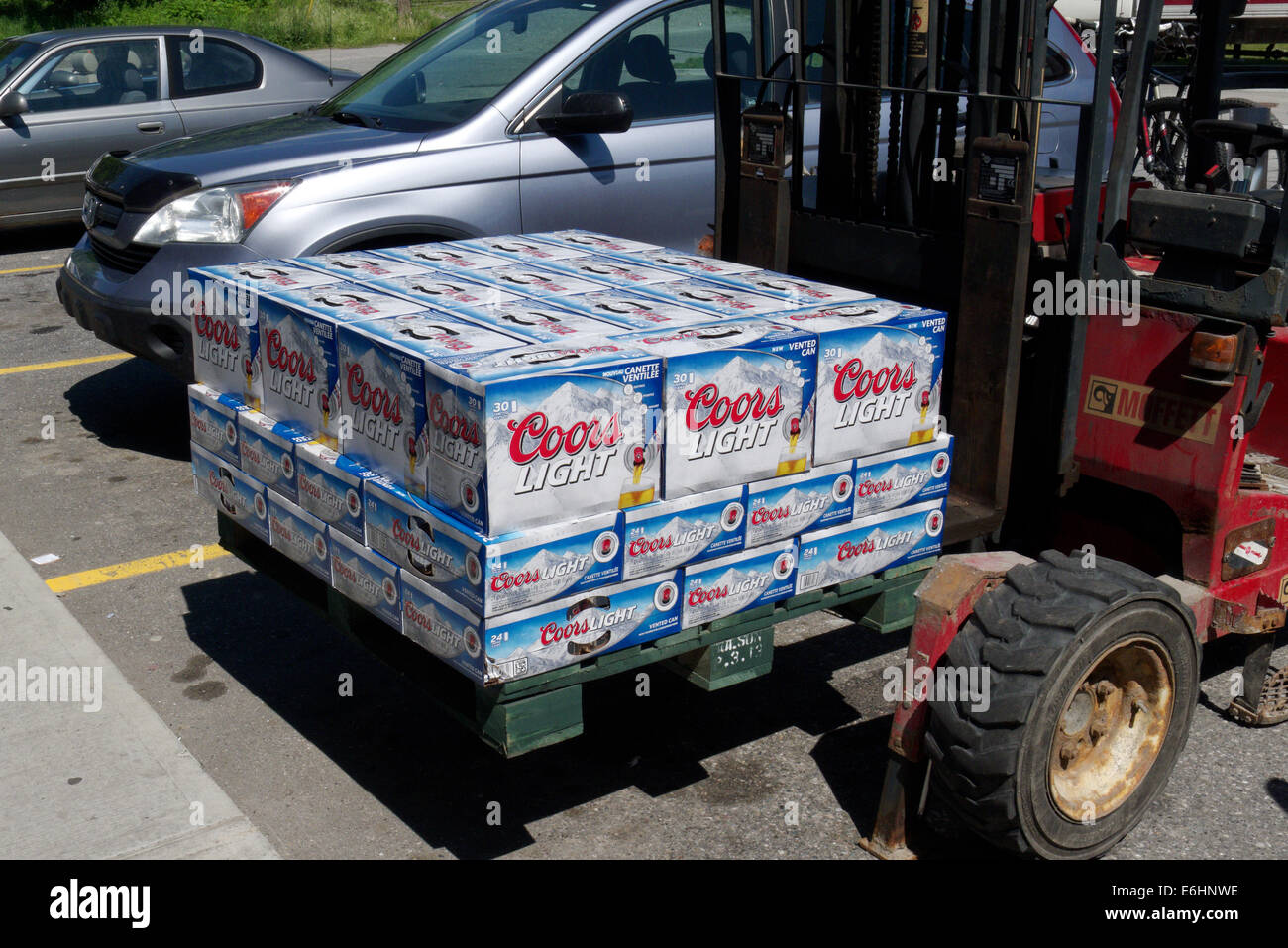 Boxes of coors light beer on a forklift stock photo 72919770 alamy boxes of coors light beer on a forklift aloadofball Images