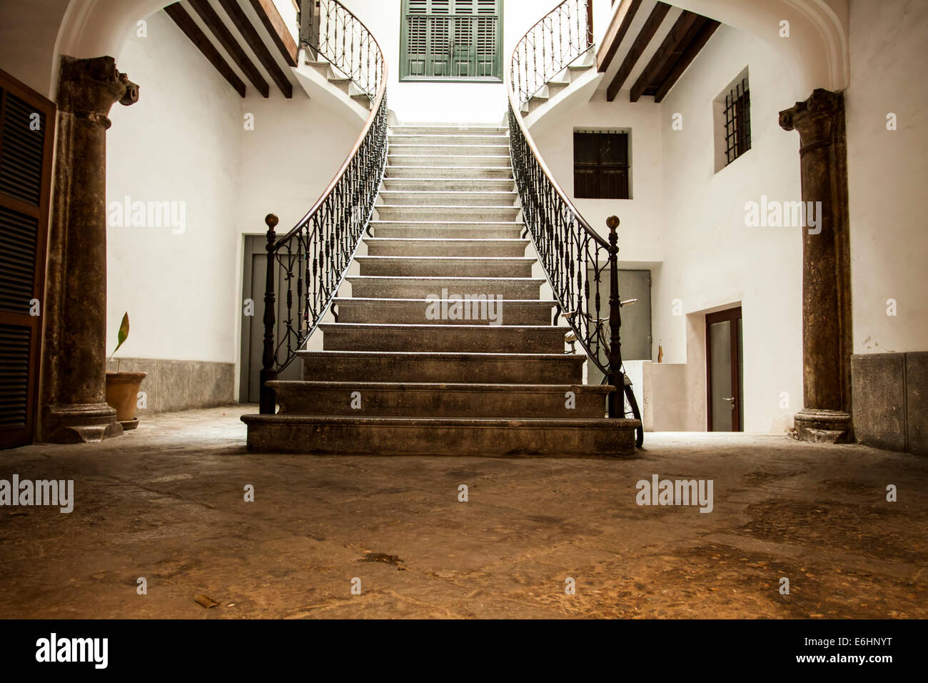 vintage photo of ancient castle interior stock photo, royalty free