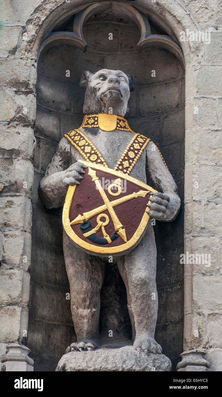 heraldic bear symbol of the medieval city of bruges