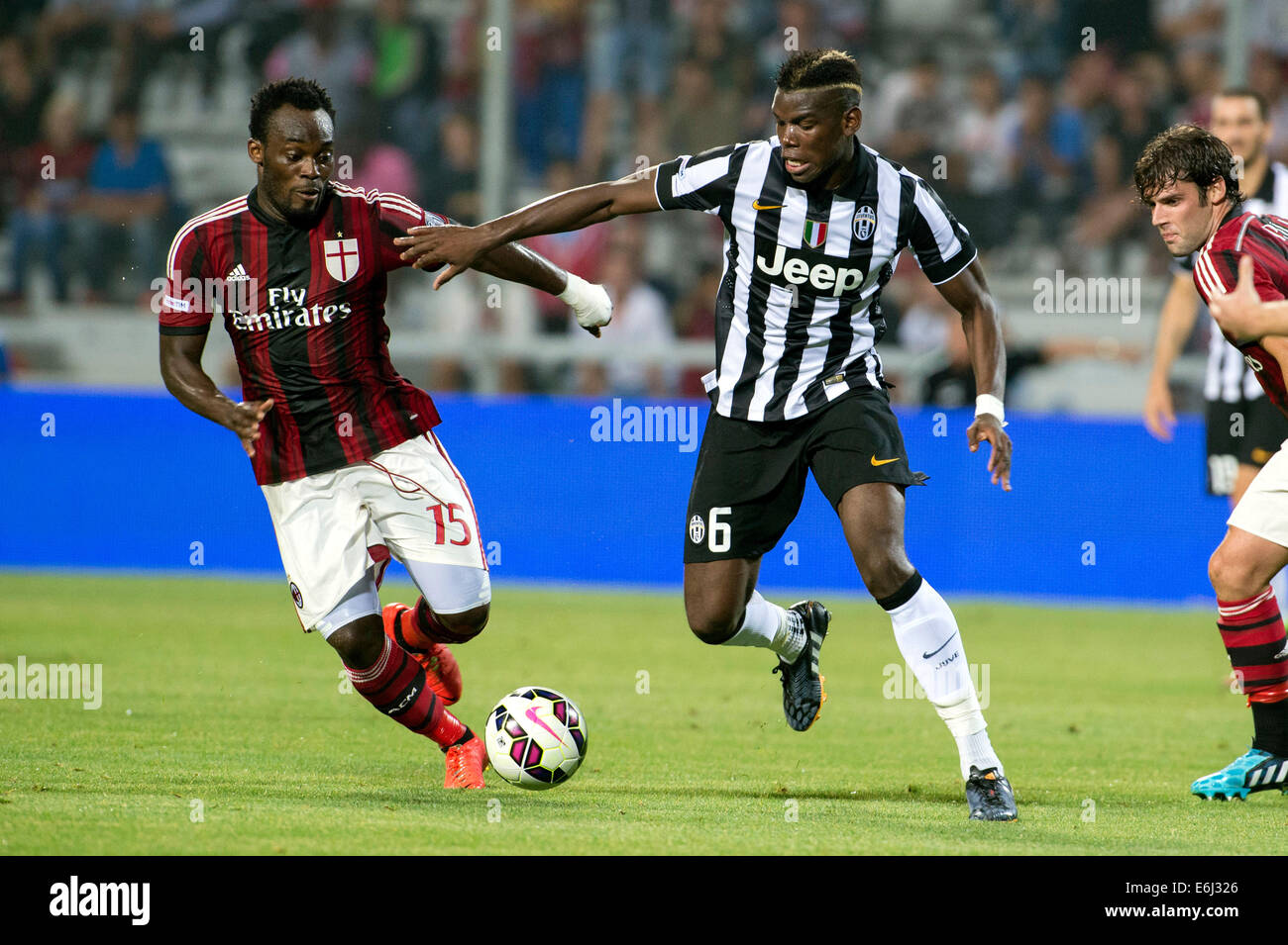 Michael Essien Milan Paul Pogba Juventus AUGUST 23 2014