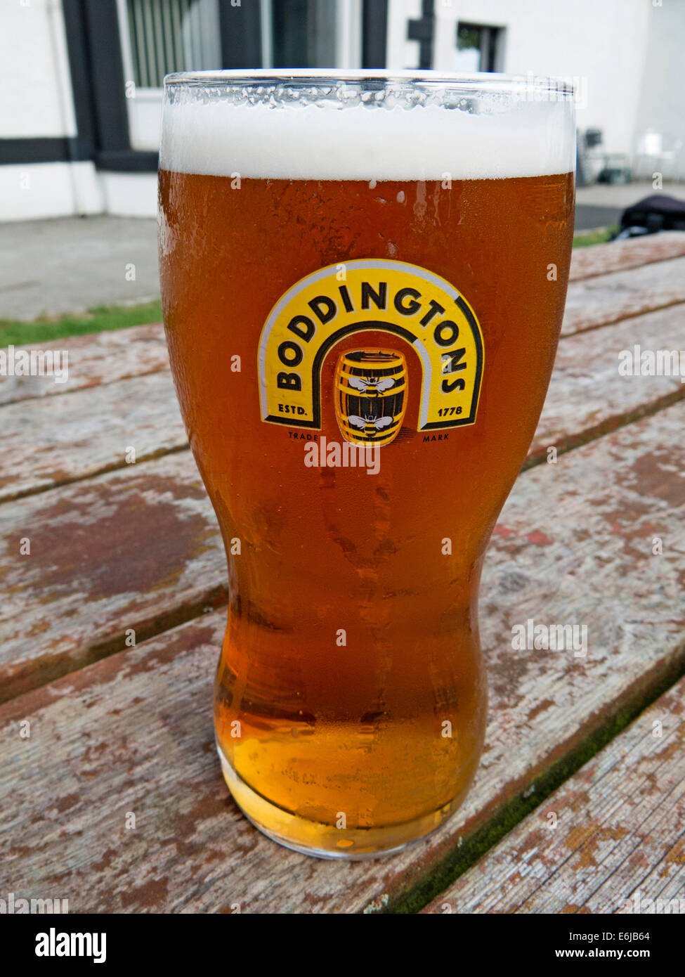 Glasses Of Boddingtons Bitter From Manchester In A Pint