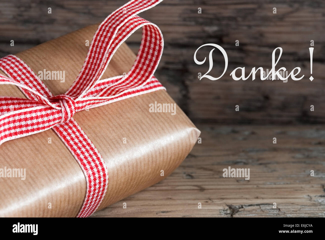 Rustic Gift on Wood with the German Word Danke which means Thanks ...