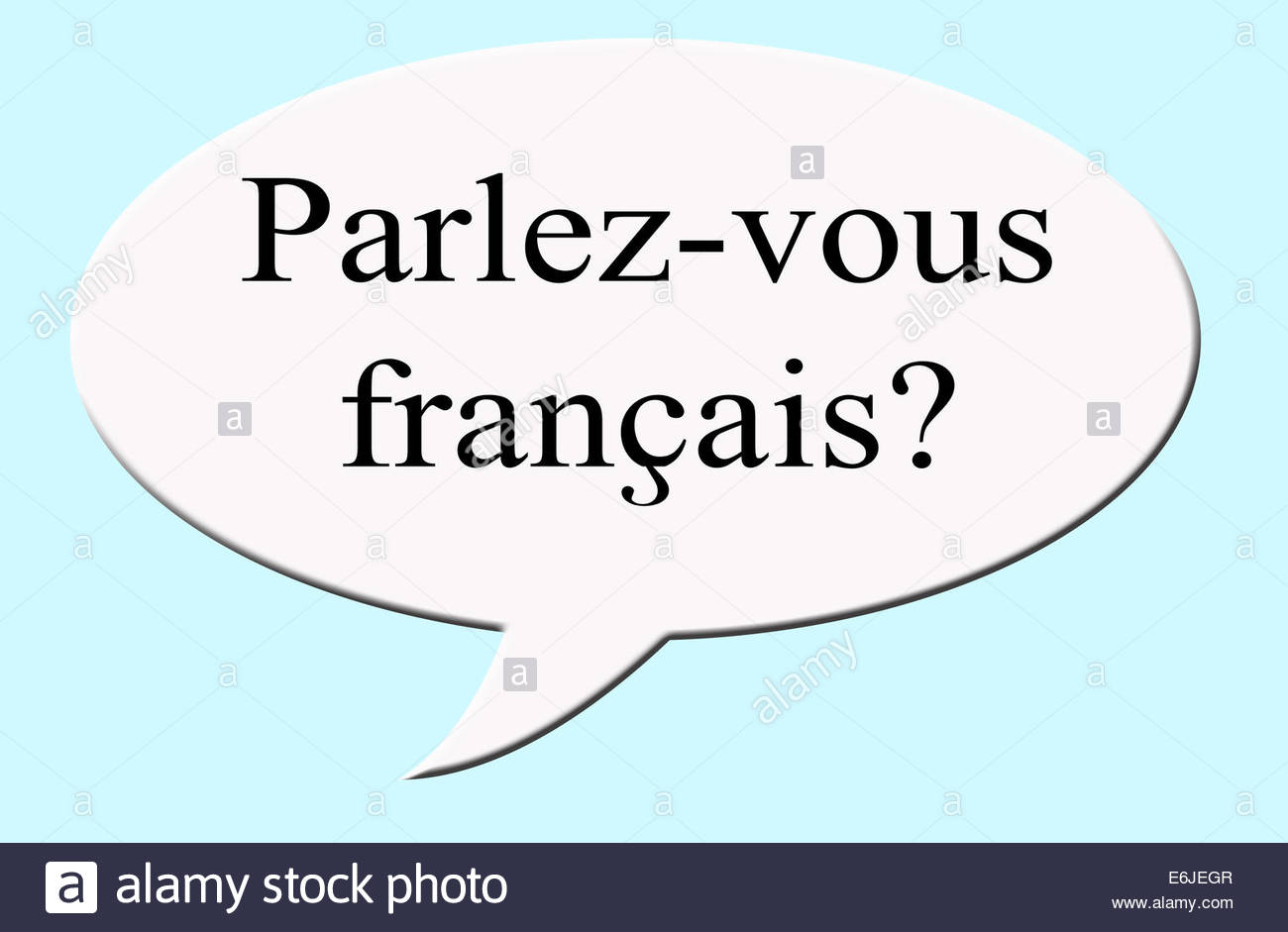 how to say you speak french