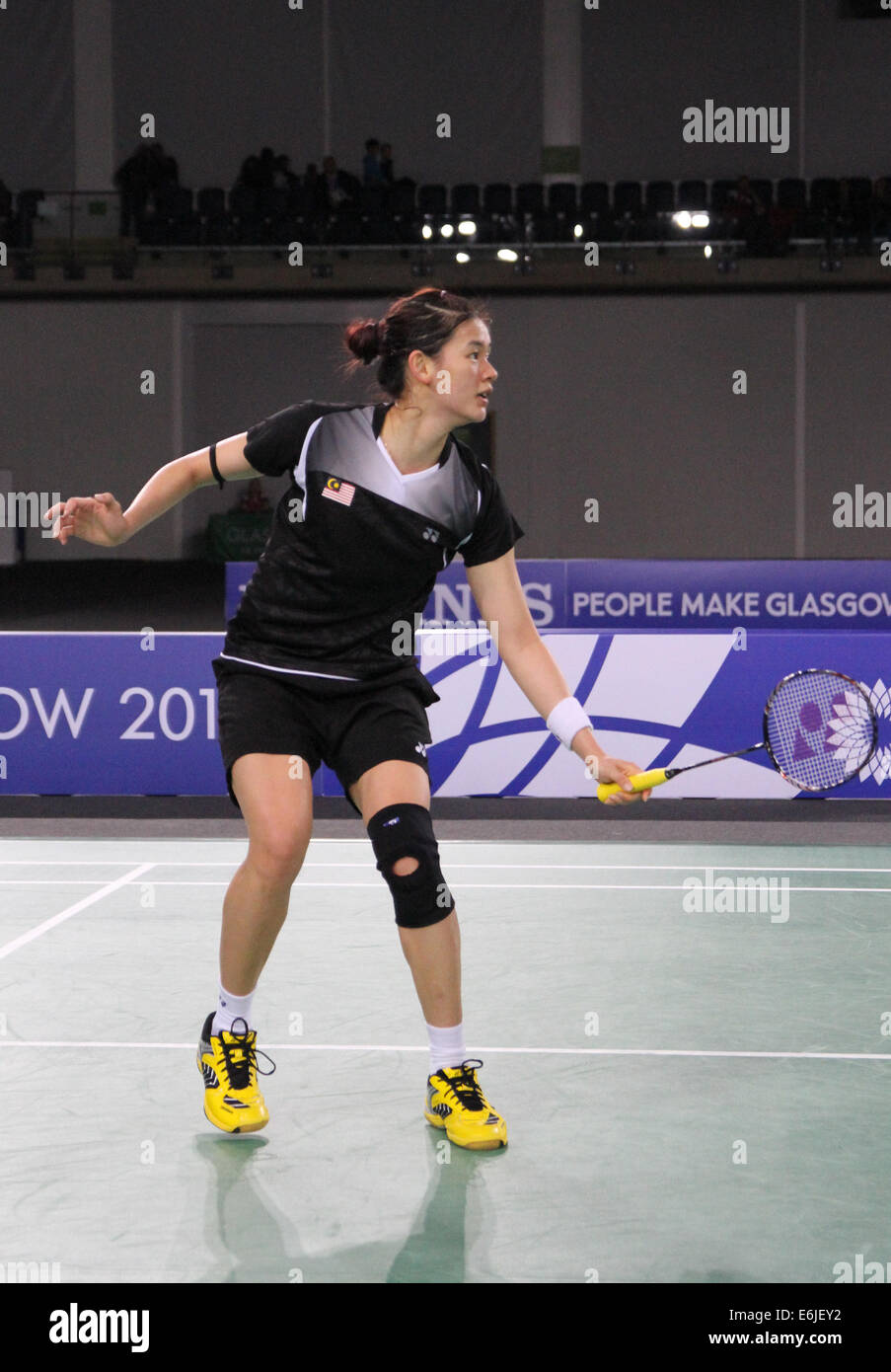Khe Wei Woon of Malaysia v England in the semi finals of the