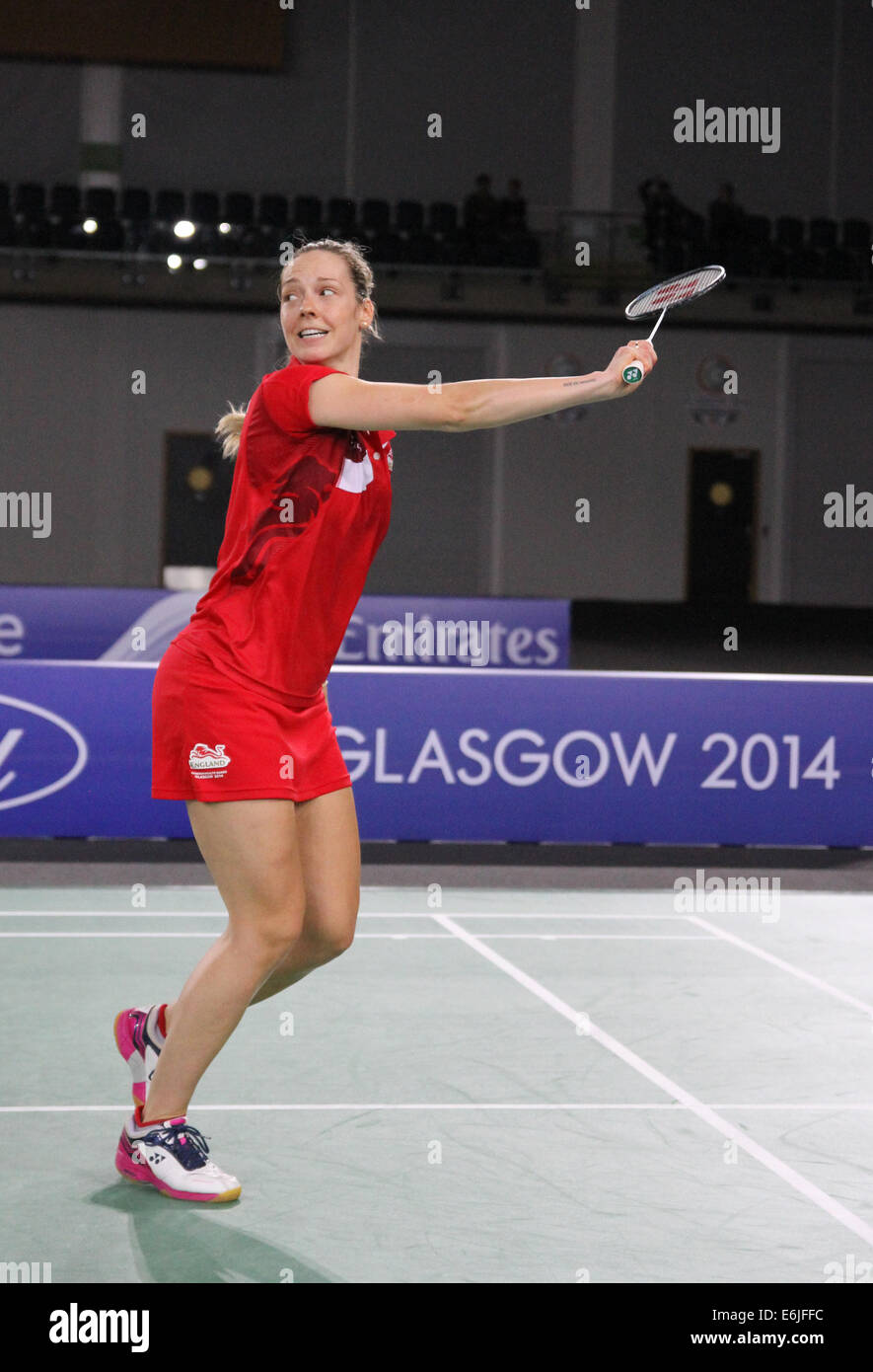 Gabrielle ADCOCK of England v Malaysia in the semi finals of the