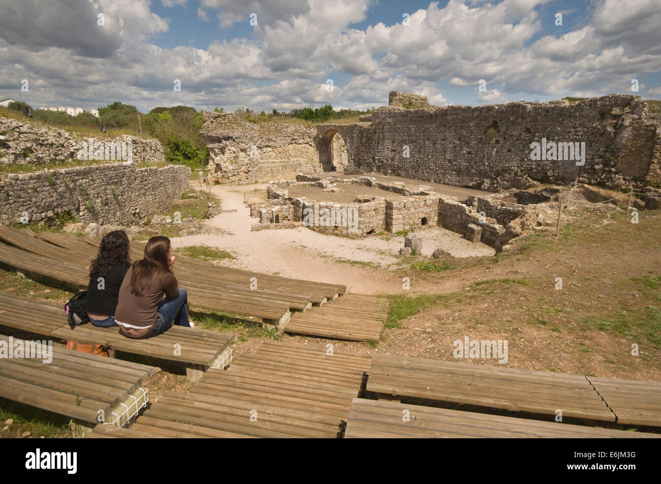 Europe portugal conimbriga 1st century ad roman site baths of europe portugal conimbriga 1st century ad roman site baths of the aqueduct 2nd century ad with two young women sat on ben publicscrutiny Image collections