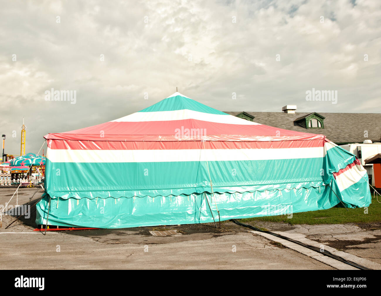 circus tent style covering for vendors and games of chance booths at a fair & circus tent style covering for vendors and games of chance booths ...