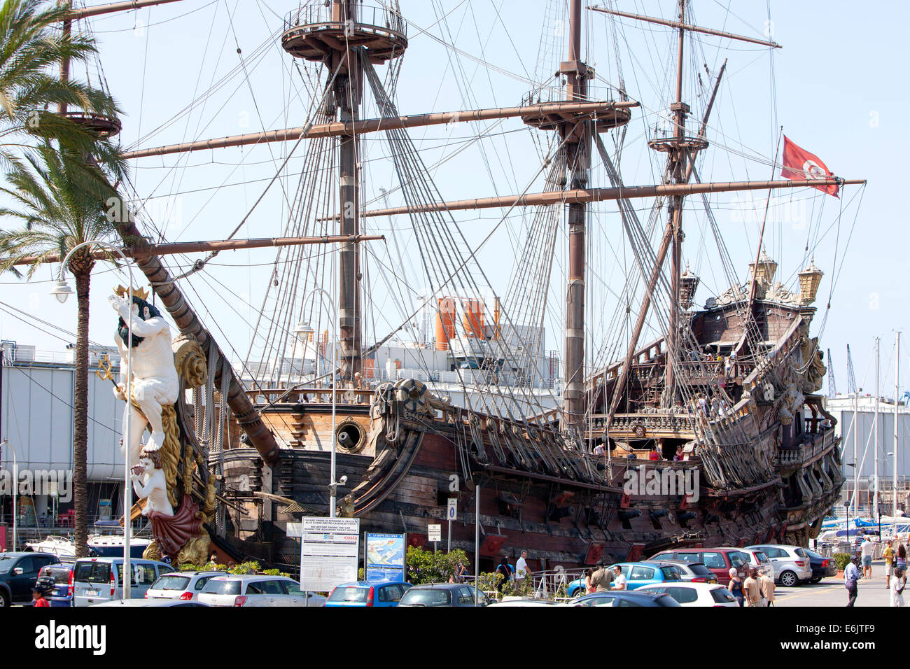 Pirate Ship Genoa the historical port city in northern ...
