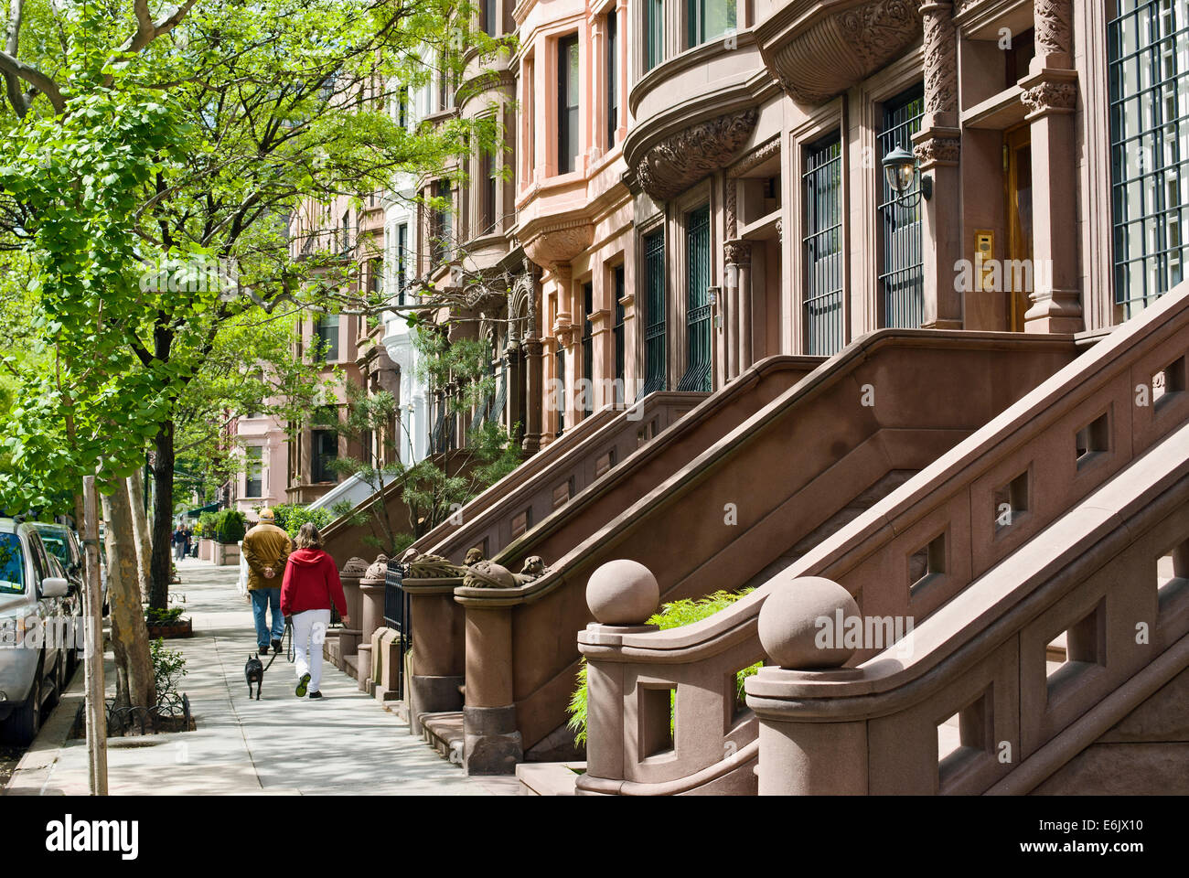 Brownstone apartment houses buildings residences on the for Upper west side apartments nyc