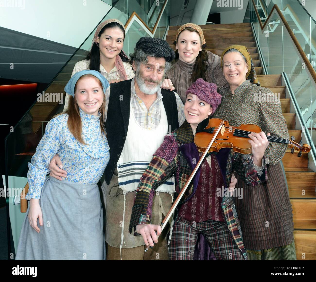 Actor Paul Michael Glaser U0026 The Rest Of The Cast Of The Musical U0027Fiddler On  The Roofu0027 Launching The Stage Show At The Bord Gais Energy Theatre From  18th ...
