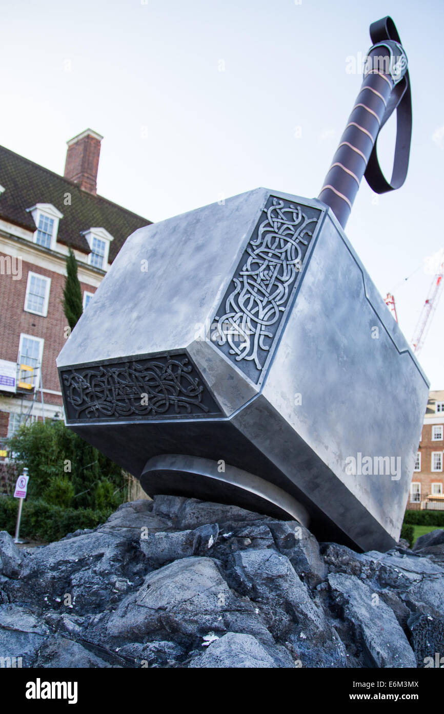 a huge hammer of thor has appeared in the grounds of davenport