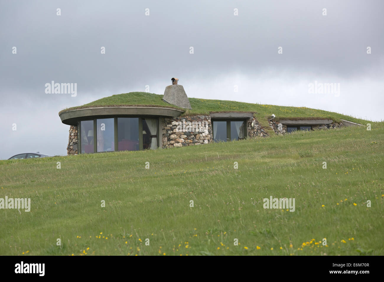 Stock Photo - Underground house with turf roof South Harris Outer Hebrides Scotland & Underground house with turf roof South Harris Outer Hebrides ... memphite.com